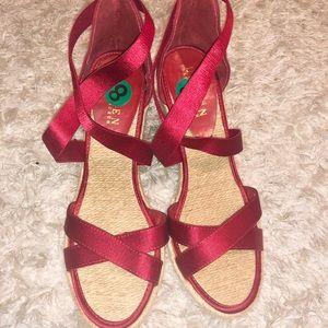 Criss cross satin Ralph Lauren sandals